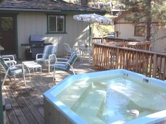 large deck, hot tub, spa, jacuzzi, jacuzi, bbq, barbecue